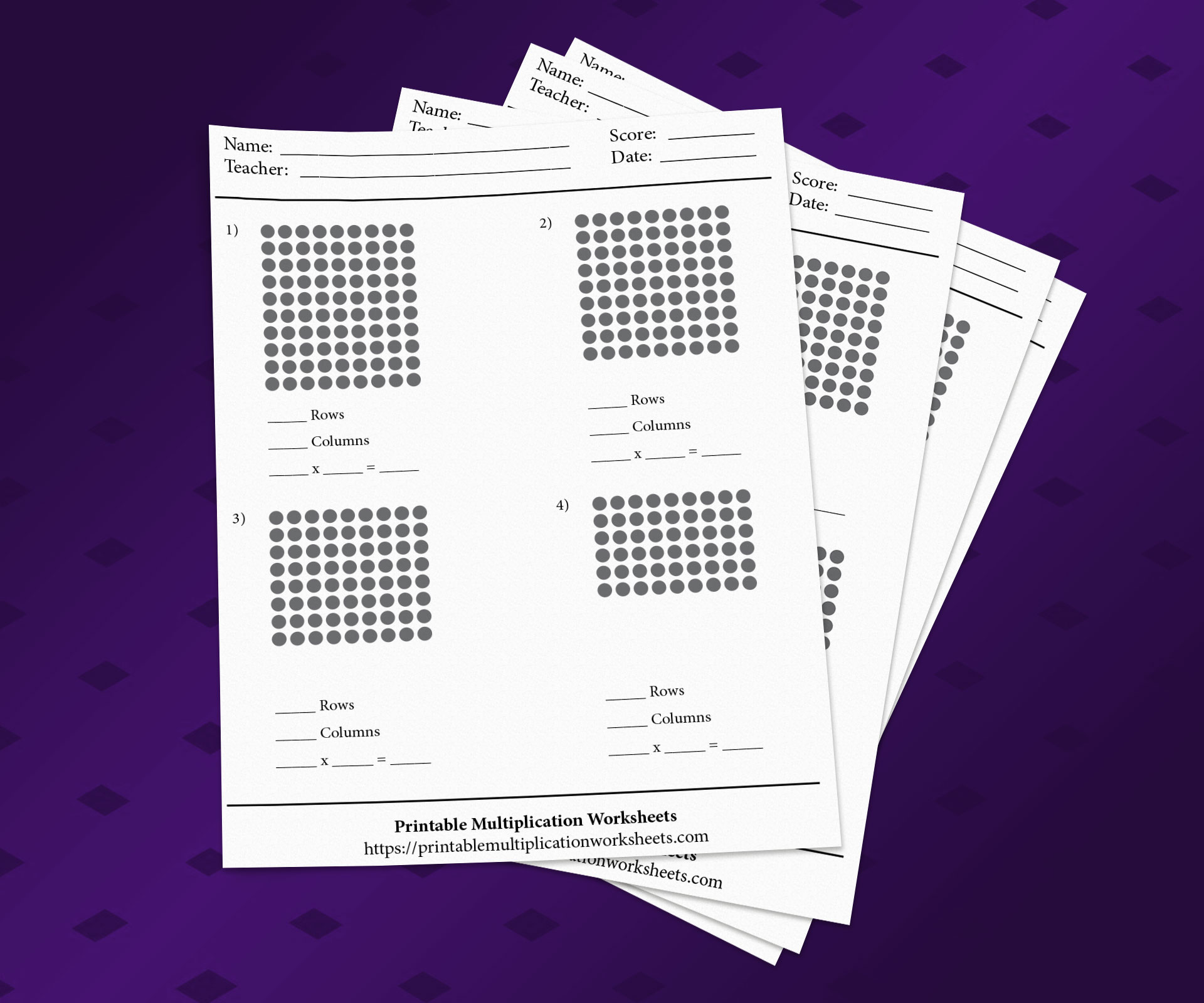 Printable Multiplication Worksheets With Arrays